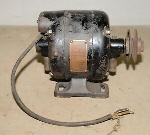 Antique Blackstone Mfg 1 4 Hp Early Electric Motor Lathe Watchmaker Collectible