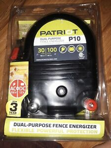 Patriot P10 Electric Fence Charger Energizer 30 Mile 1j And Free Fence Tester