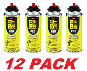 Great Stuff Pro Dispensing Tool Applicator Gun Cleaner 12 Cans 12 Oz Each