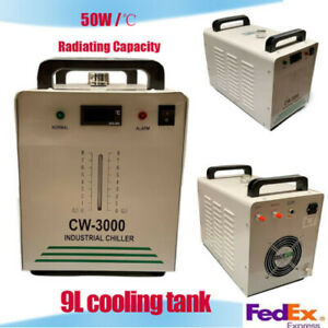 50w Industrial Water Chiller Cw 3000dg For Co2 Glass Laser Tube Engraver 9l Us