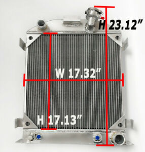 All Aluminum Racing Cooling Radiator Fit Ford 1932 Hot Rod W chevy 350 V8 Engine