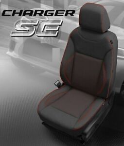2015 2016 2017 Dodge Charger Se Custom Katzkin Black And Red Leather Seat Covers