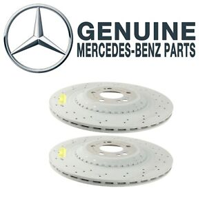 Genuine Set Pair Of 2 Rear Disc Brake Rotors For Mercedes S550 Maybach S600 S560