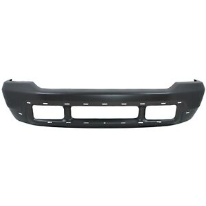 Front Bumper For 02 04 Ford F 250 Super Duty Painted Gray W Pad Valance Holes