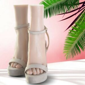 Silicone Female Mannequin Foot Model Shoes Socks Jewelry Lifelike Display