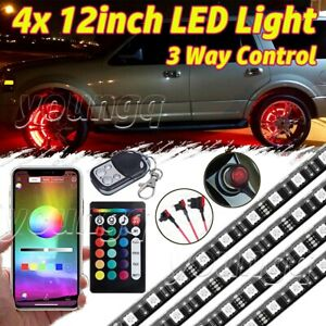 All color Bluetooth Wheel Well Led Light 4pcs Custom Accent Neon Strips Rim Tire