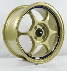 4pcs Advan Racing Rg1 16inch 7j 4x100 Alloy Wheels Cheap Car Rims Yh47 2