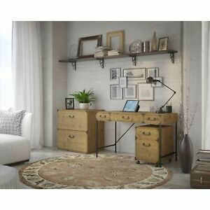 Ironworks Desk And Files Set From Kathy Ireland Home By Bush Brown N a