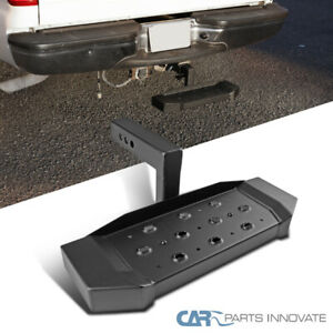 Black Rear Hitch Step Pad For Truck Suv 2 Receiver 6 Drop Long Guard Tailgate