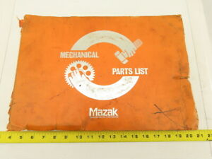 Mazak Slant Turn 40n Atc M c Mechanical Parts List Diagram Head Tailstock Turret