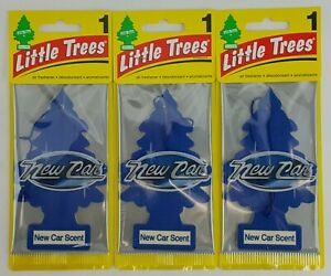 3 Piece Lot Little Tree Air Freshener New Car Scent