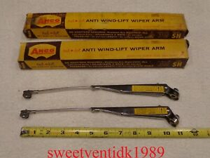 Nos Anco Wiper Arms shiny Stainless anco Adjustable Wipers 10 14