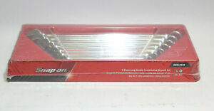 Snap on Oexl707b 7pc Sae 3 8 3 4 Long Handle Combination Wrench Set New Sealed