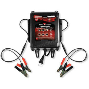 Yuasa 6 12 Volt 2 Amp 2 bank Automatic Battery Charger Maintainer