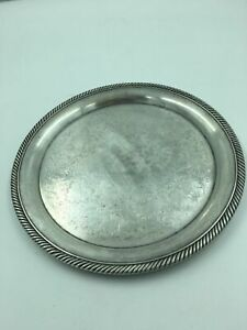 International Silver Co Silver Plated Serving Tray Platter 870 Measures 10 25