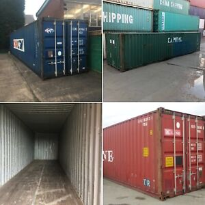 40ft High Cube Used Watertight Shipping Containers Baltimore Best Price