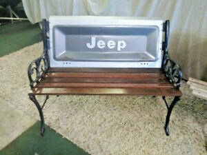 Tailgate Bench From Vintage Jeep Mancave Ready