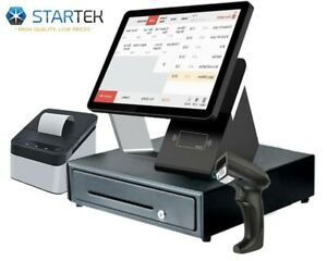 Double Touch Screen Pos Cash Register No Monthly Fee Free Restaurant Software