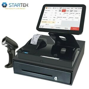 All in one Touch Screen Pos Cash Register No Monthly Fee Software For Restaurant