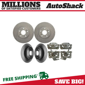Front And Rear Rotors And Calipers For 2008 2009 2010 2011 2012 Honda Accord