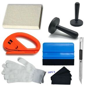 Car Wrapping Installation Tools Kit Vinyl Wrap Squeegee Glove Magnet Window Tint