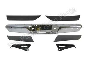 Rear Step Bumper Chrome Face Bar Cover Pad Outer Bracket For Dakota 1997 2004