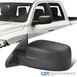 For 09 19 Dodge Ram 1500 Pickup Black Manual Foldable Driver Side View Mirror