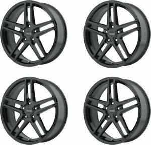 Set 4 16 American Racing Ar907 16x7 Gloss Black 5x4 5 Wheels 40mm 5 Lug Rims