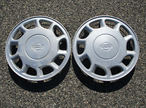 Lot Of 2 1995 1996 Nissan Maxima 15 Inch Hubcaps Wheel Covers Beaters
