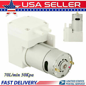 7l min Mini Vacuum Pump Dc12v Negative Pressure Suction Micro Pump 50w Us Stock