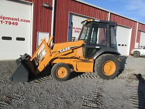 1997 Case 570 Xlt Skip Loader Landscaper Snow Pusher Loader Tractor 9000 Hours