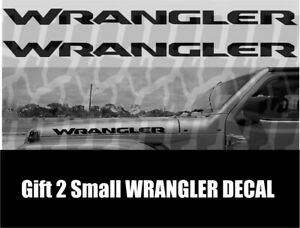 Wrangler Hood Decals Stickers Graphics Rubicon 2 x23