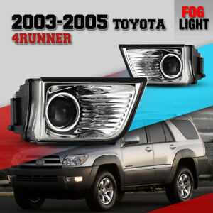 Fog Light For 03 05 Toyota 4runner Clear Lens Projector Driving Lamp Replacement