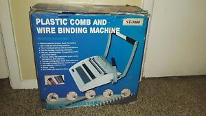 Plastic Comb And Wire Binding Machine St 3000 Office Assistant In Box