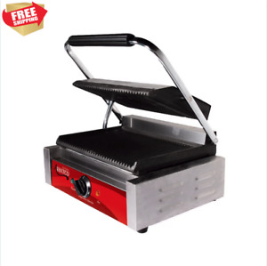 Parrilla Electrica Commercial Sandwich Panini Grill Press Industrial Kitchen New