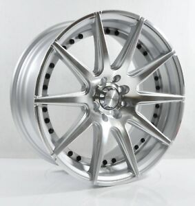 4pcs Adv 1 17inch 7 5j 4x100 4x114 3 Alloy Wheel Cheap Rims Silver Yh402 2