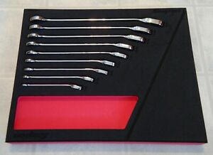 Snap On Soxrr01 Sae Ratcheting Wrench Set 9 Piece With Foam Box
