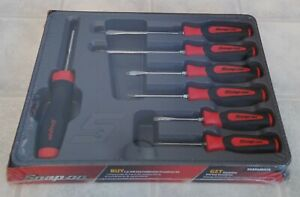 Snap On Sgdx60ratr Instinct Soft Grip Screwdriver Set 1 Ratcheting And 6 Fixed