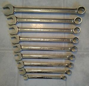 Snap On 9 Piece Soex Oexb Mixed Flank Drive Sae Wrench Set