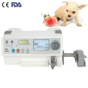 Animal Vet Injection Infusion Syringe Pump Kvo drug Library Purge Injector Pump