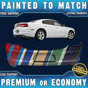 New Painted To Match Rear Bumper Replacement For 2011 2014 Dodge Charger 11 14