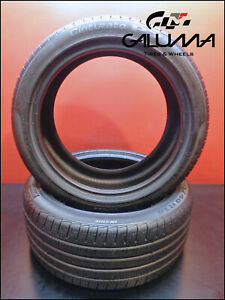 2 Two Tires Excellent Pirelli 245 40 18 Cinturato P7 All Season Oem Audi 50266