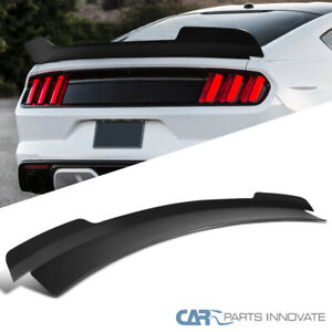 For 15 20 Ford Mustang Md Style Matte Black Rear Spoiler Trunk Wing 1pc Kit