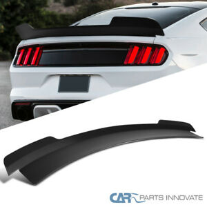 For 15 20 Ford Mustang Md Style Matte Black Rear Spoiler Trunk Wing 1pc Kit Fits Mustang