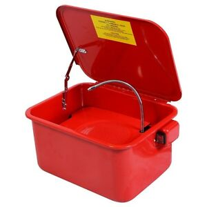 3 1 2 Gallon Automotive Parts Washer Cleaner Heavy Duty Electric Solvent Pump