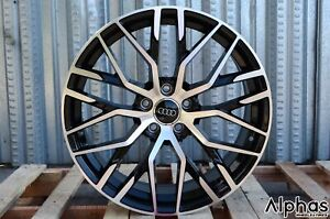 Au1 19x8 5 5x112 32 66 6 Gbmf Gloss Black Machined Face Set Of 4 For Audi