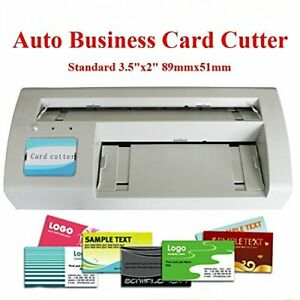 Business Card Slitter Cutter 89x51mm Card Diy 110v With 2000 Business Card Templ