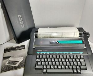 Sharp Pa 3000ii Electric Typewriter Great Working Condition Still Has Ink