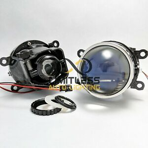 Universal 3 Blue Lens Hid Bi xenon Projector Fog Light With Hi lo Beam Lhd