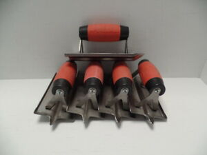 Marshalltown Hgsg63 6x3 Concrete Hand Groover With Soft Grip Handle Lot Of 5